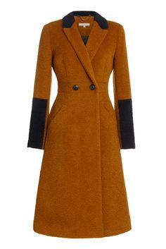 Пальто приталенное рыжее