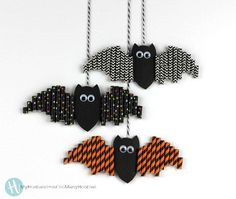 I'm Batty for These Easy Halloween Paper Straw Bats!