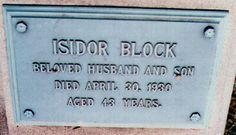 Harry Block Headstone
