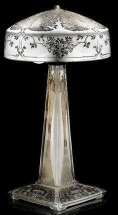 R. Lalique Paons Table Lamp