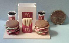 Barbie Sized McDonalds Big Mac Hamburger Food Display Board