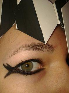 Close-up bij het oog.