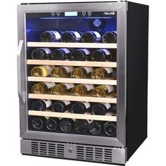 If you own a large wine collection that you want to chill at the right temperature, then the Whynter Elite 40 Bottle Dual Zone Convertible Wine Refrigerator is the perfect choice for you. Innovatively designed to offer convenience, this wine refrigerator has an adjustable thermostat for both zones, which can be used to keep different types of wines or sparkling champagnes. Featuring 11 pullout racks, it is crafted to hold 40 bottles at once. The Elite 40 Bottle Dual Zone Built-in Wine…