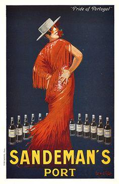 Sandeman's Port vintage advert, Portugal