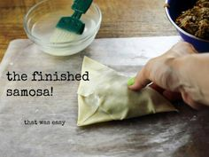 how to wrap samosas in egg roll wrappers