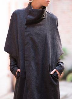 Charcoal Oversize Coat