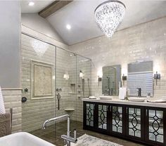 Who wouldn't love this bathroom? I'll be busy day dreaming now!   Thanks for the idea Tarek and Christina from Flip or Flop