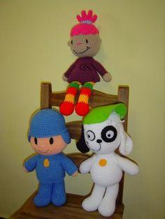 """Artesanal"" Diseño en Tejidos: Pocoyo Pinky Dinky Doo y Doki"