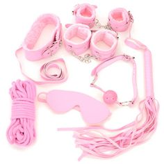Lovely Fluffy Leather Classic Set - Pink
