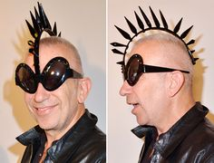 Mohawk Hairstyle Sunglasses by Jean-Paul-Gaultier-mohawk-sunglasses at  Mikli Launch. 2012