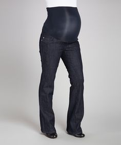 Take a look at this Dark Wash Over-Belly Maternity Jeans - Petite, Women & Plus on zulily today!