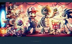 Video game holidays.  #nintendo #gamers #gamer #retrogaming #videogames #gaming #funny #supermariobrothers #supermario #happyholidays #merrychristmas #christmas #santa #nintendolife #n64 #cute #sonicthehedgehog #gaminglife