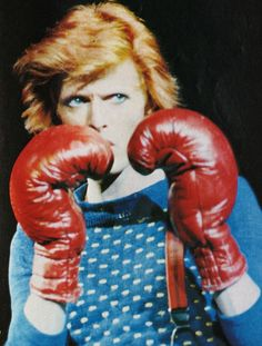 David Bowie boxing. I actually trained with the same boxing trainer who trained David Bowie! Probably the closest I will ever get to the man.