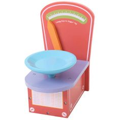 This brightly colored wood scale features a durable professional finish and actually weigh your little one's toy, encouraging realistic play. Play Kitchen Food, Play Shop, Home Learning, Dramatic Play, Toys Shop, Imaginative Play, Pretend Play, Kids Playing, Kids Toys