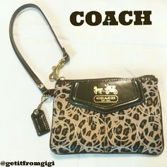 COACH Animal Print Wristlet Never used. Without tags. Cheetah print wristlet. Authentic. Coach Bags Clutches & Wristlets