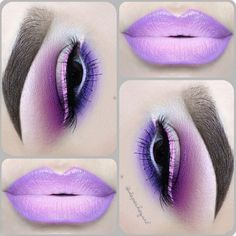 Loving this sweet purple lipstick with matching plum and purple eyeshadow by @depechegurl: http://blog.furlesscosmetics.com/depeche-gurl/