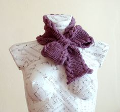 Hand knitted bow neck warmer, scarf | Flickr - Photo Sharing!