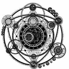 Tattoo geometric design sacred geometry mandalas new Ideas Tattoo Geometrique, Magic Symbols, Death Symbols, Glyphs Symbols, Occult Symbols, Occult Art, Magic Circle, Star Magic, Body Art Tattoos
