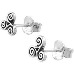 Journee Collection Sterling Silver Celtic Swirl Design Stud Earrings ($14) ❤ liked on Polyvore featuring jewelry, earrings, sterling silver butterfly jewelry, stud earrings, sterling silver celtic jewelry, sterling silver stud earrings and sterling silver earrings