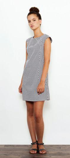 Black and White Dress, Party Dress, Mini Dress, Cocktail dress, Short Sleeved Dress, Printed Dress, Oversized Dress