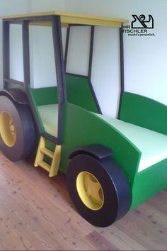 Holzbett in Form eines Autos von der Tischlerei Holzwerkstatt Form, Autos, Carpentry, Woodworking Shop, Kid Beds, Bedroom