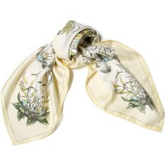 Pre-owned Hermes Scarf/Wrap (9,600 THB) ❤ liked on Polyvore featuring accessories, scarves, apparel & accessories, clothing accessories, scarves & shawls, wrap shawl, hermes shawl, hermes scarves, floral scarves and patterned scarves
