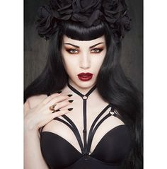Cage Open Bra Harness Goth Fetish Lingerie
