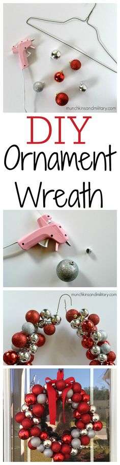 Pinable DIY ornament wreath image