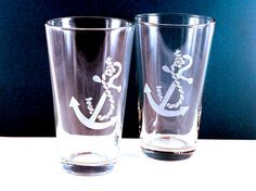 for a nautical lover: anchor glasses