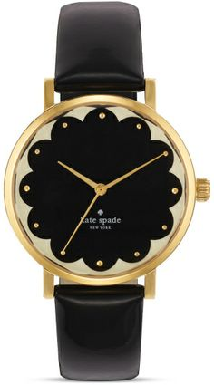 Kate Spade Black Scallop Black Metro Watch 34mm