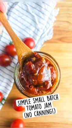 Retro Recipes, Jam Recipes, Canning Recipes, Veggie Recipes, Healthy Recipes, Tomato Jam, Pots, Yummy Food, Tasty