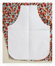zelf een schortje maken / how to make an apron Clothes Crafts, Sewing Clothes, Sewing Crafts, Sewing Projects, Diy Crafts, Diy Clothing, Sewing For Kids, Kids Shirts, Cool Kids