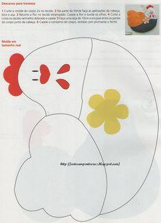 Moldes Para Artesanato em Tecido: Moldes patchcolagem Galinhas