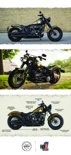Nothing gets more respect on the street than power.   2016 Harley-Davidson Softail Slim S #harleydavidsonchopperscustombobber