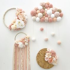"""la jolie famille poudree qui sera,"""" – Fashion and Lifestyle Baby Room Diy, Baby Room Decor, Nursery Decor, Crafts To Sell, Diy And Crafts, Crafts For Kids, Preschool Crafts, Pom Pom Crafts, Yarn Crafts"""