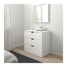 NORDLI 3-drawer chest - white - IKEA