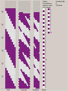 8 around tubular bead crochet rope pattern. Crochet Bracelet Pattern, Crochet Beaded Bracelets, Bead Crochet Patterns, Seed Bead Patterns, Bead Crochet Rope, Beaded Crafts, Beaded Bracelet Patterns, Peyote Patterns, Beading Patterns