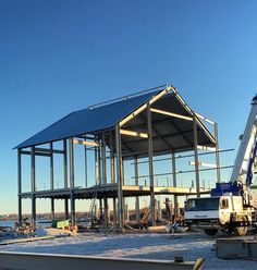 #nofilter needed on our waterfront distillery going up. Sunset looks good on steel.  #motivationmonday by sagamorespirit