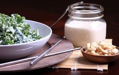 Olives for Dinner : Raw Tahini and Cashew Dressing