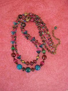 Bohemian Necklace Beaded Necklace Boho Chic by BohoStyleMe on Etsy