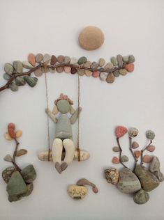çakıl taşlarından yapılan tablolar ile ilgili görsel sonucu