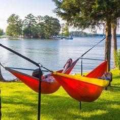 eno fuse hammock spreader system finally an easy and  fortable way to hang two hammocks camping organization ideas   eno hammock hammock stand and      rh   pinterest