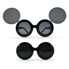 #urgentlyneeded #Mickey-Flip round glasses-Black sunglasses- Street Style-Party-Gift #Round glasses . I WANT THIS SO BAD!!!!