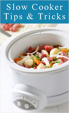 Crockpot Cooking Tips and Tricks via Tip Nut... need to put an appliance timer with my crockpot for my morning oatmeal.