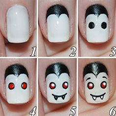 12 + Easy Step By Step Halloween Nail Art Tutorials For Beginners & Learners 2014