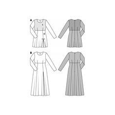 Burda Robe taille empire n°6720