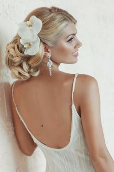 Wedding Hairstyle ~ Updo  neutral make-up