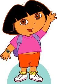 Picture of Dora for peg doll