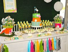 golf themed dessert table