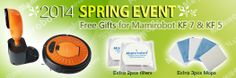 Spring event started from Mamirobot Europe! Free gift for Mamirobot KF7 & KF5 buyers!  www.mamiroboteu.com